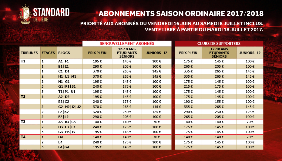 Ticketing Informations Generales Standard De Liege