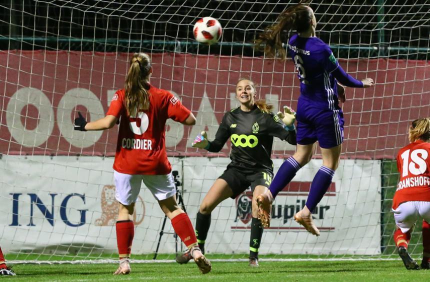 Défaite 1-0 de nos filles à Anderlecht