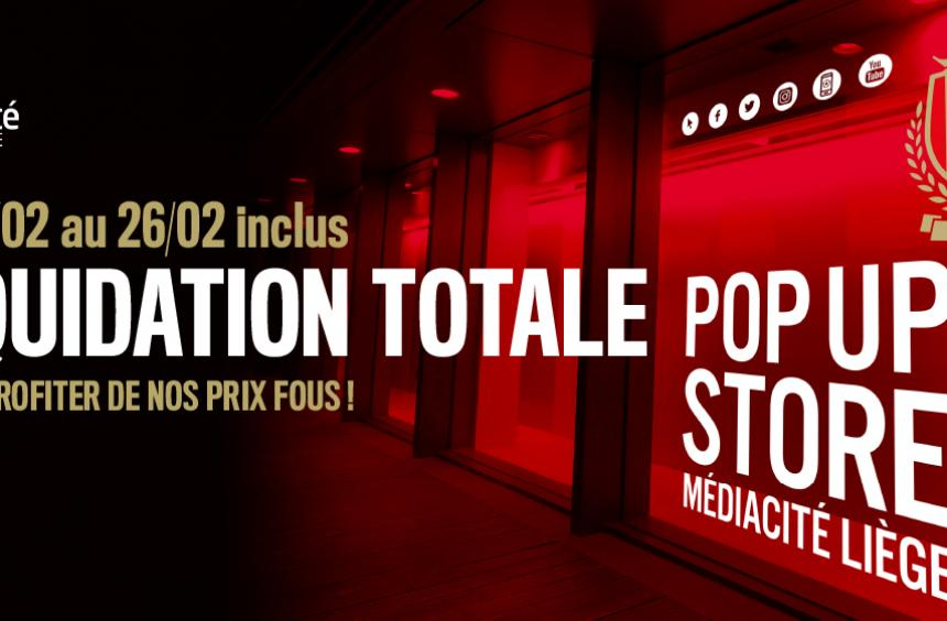 Pop Up Store : liquidation totale